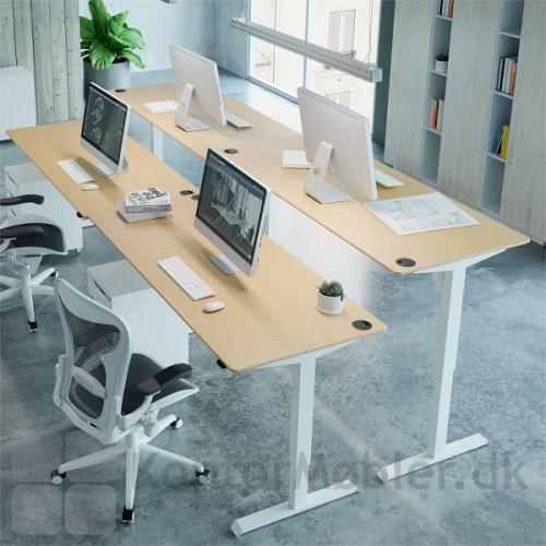 Conset 501-33 hæve sænke bord med hvidt stel