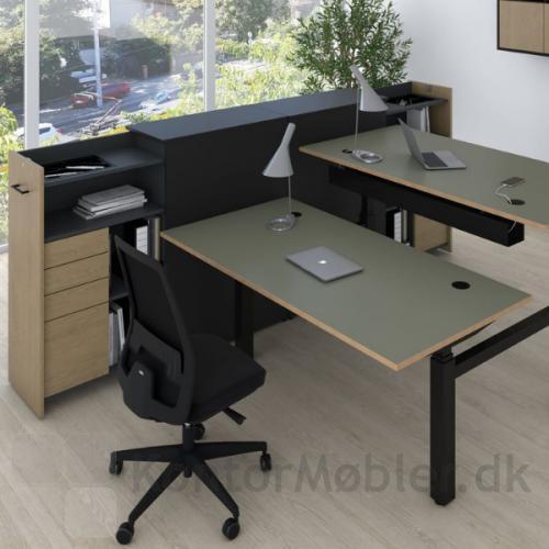 Every kontorstol i sort passer ind i de fleste kontormiljø
