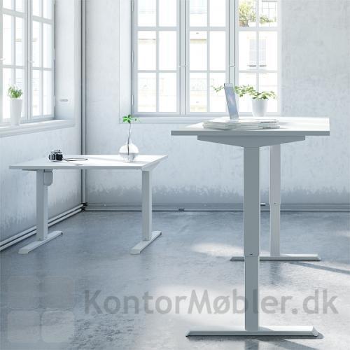 Conset 501-33, hvidt hæve sænke bord