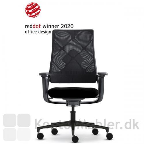 Connex2 kontorstol med netryg, har automatisk vægtjustering