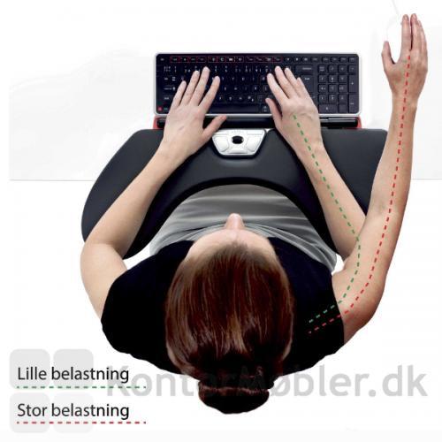 Vælg Contour Rollermouse og minimer belastning af skulder og arm