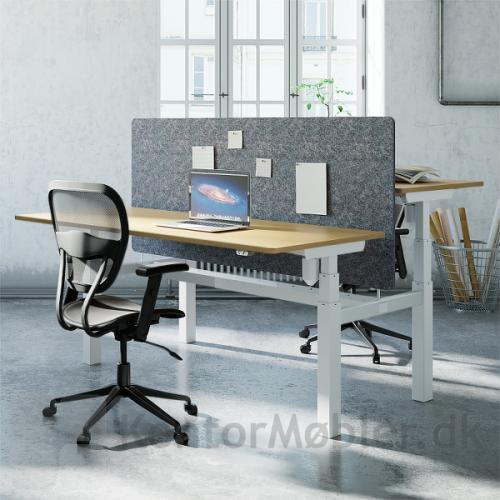 Conset 501-88 dobbeltbord med bordskærm