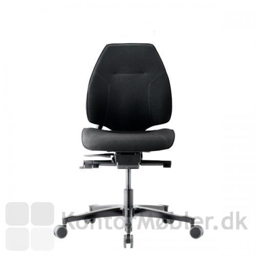 Lanab kontorstol 6330 uden armlæn samt krom stel