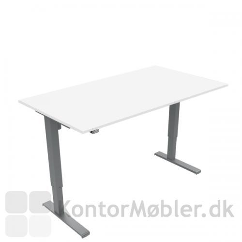Basic hæve sænke bord med hvid laminat bordplade