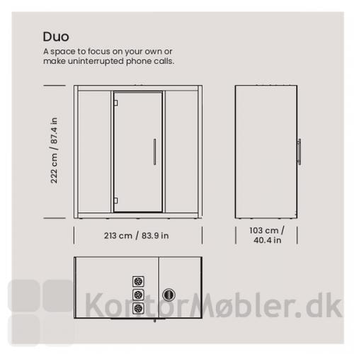 Chatbox by Silen Duo - H222xB213xD103 cm