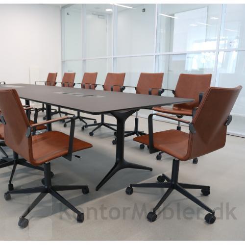 Four Cast XL elegant kontorstol til møde- og konferencerum