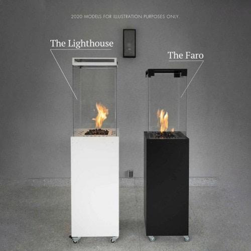 Forskel på størrelsen på Lighthouse og Faro terrassevarmer