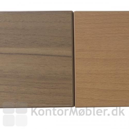 Conset stort hæve sænke bord med sidebord i valnød eller bøg laminat