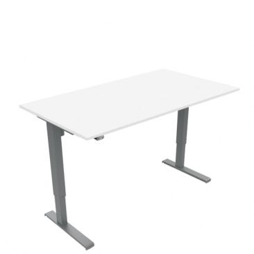 Basic hæve sænke bord i hvid laminat