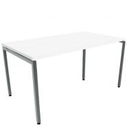 Kantineborde i hvid højtrykslaminat 160x80 cm.
