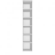 Høj smal reol med 6 rum - tillægsreol