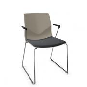 FourSure mødestol på meder med armlæn