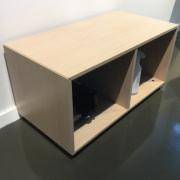 Lavt skab med 2 rum - Finér