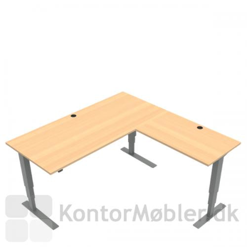 Conset stort hæve sænke bord med sidebord