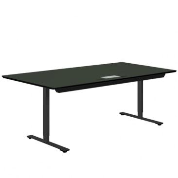 Delta hæve-sænke bord i grøn linoleum