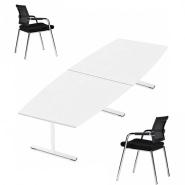 Konferencebord med laminat og Skin