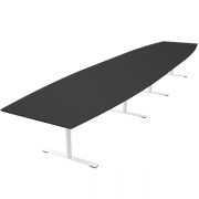 Delta tre-delt bord i linoleum / Nano