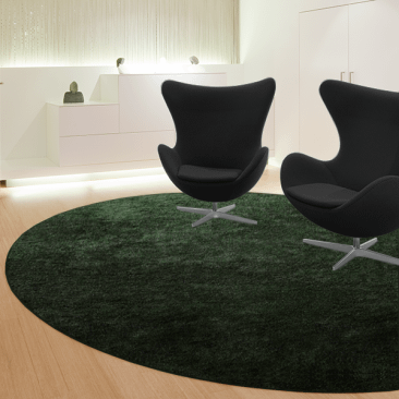 Rundt lounge tæppe - Epoca Moss