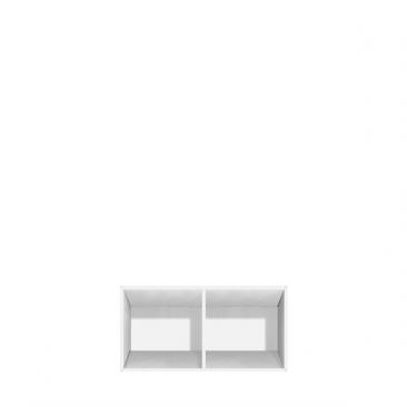 Lav reol med 2 rum