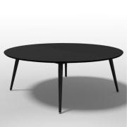 XL rundt Linoleum bord Ø 180 cm.
