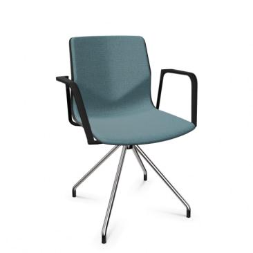 FourSure 11 polstret mødestol med armlæn