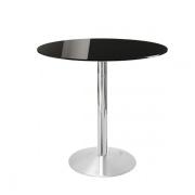 Cafébord med bordplade i glas