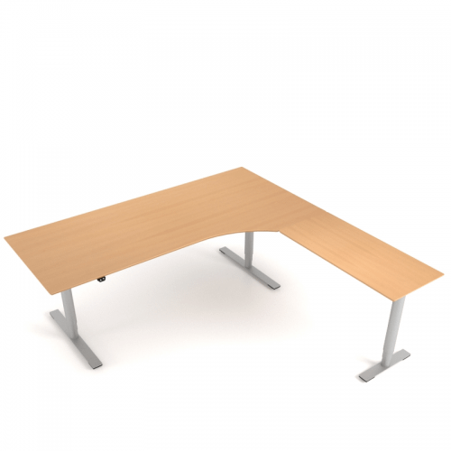 Delta Hæve Sænke bord m. sidebord