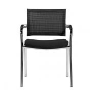 Skin mødestol med armlæn