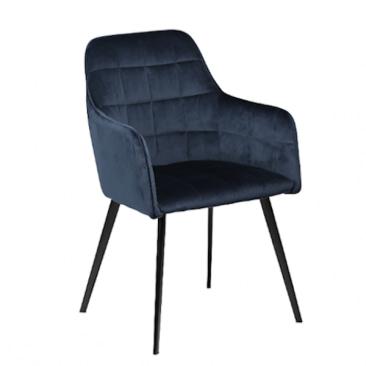 Embrace velour stol med armlæn
