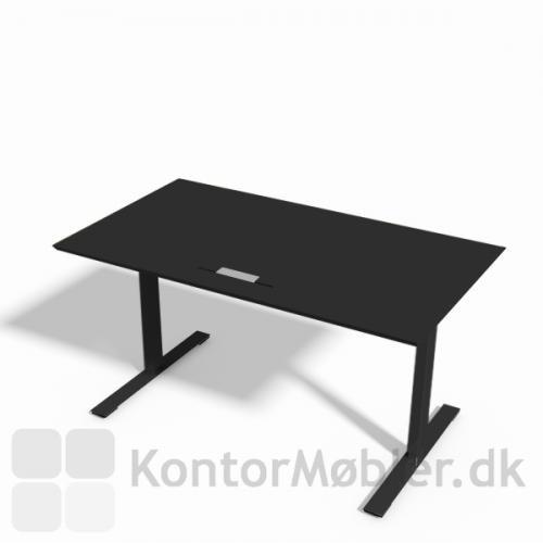 Delta hæve-sænkebord i sort linoleum