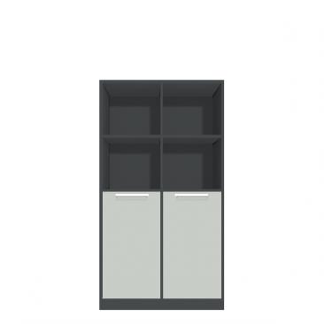 Høj rumdeler med 8 rum