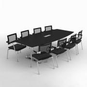 Delta konferencebord m. 8 Skin stole