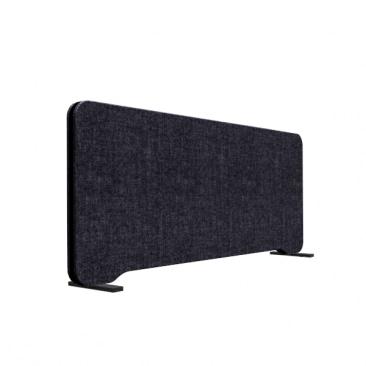Edge flytbar bordskærm, sort