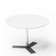 Delta rundt mødebord i laminat