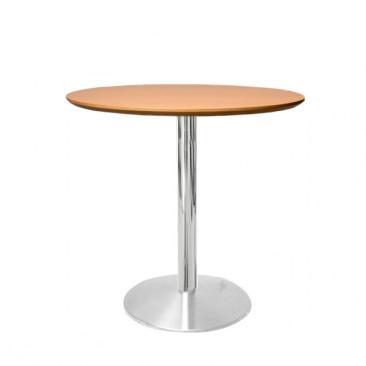 Cafébord med bordplade i finér