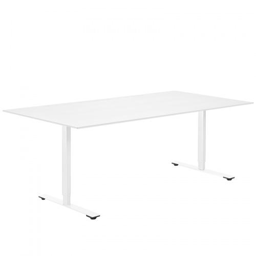 Delta bord i hvid kompaktlaminat