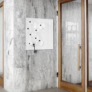 Mood Glastavle i hvid - 75x75 cm