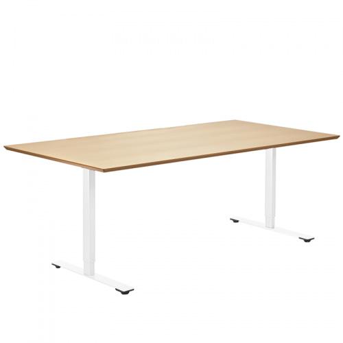Delta bord i træ Finér Hæve Sænke stel