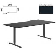 Delta hæve sænke bord v/vendt 200x100 antracit