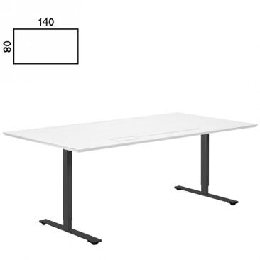 Delta hævesænke bord med hvid bordplade
