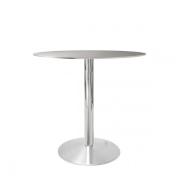 Cafébord med bordplade i stål
