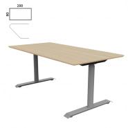Fumac Jazz Hæve-/sænkebord birk laminat 200x80 cm.
