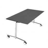 Flip top bord antracit m/krom stel