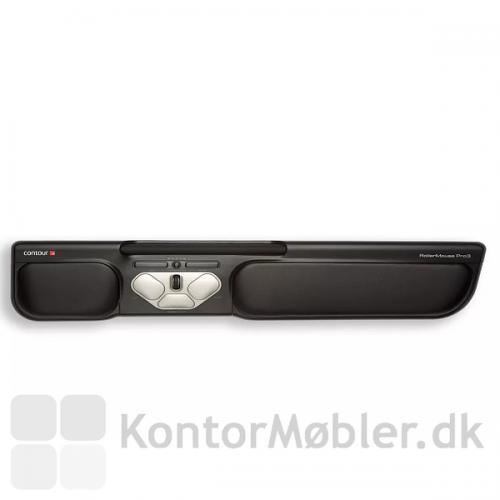 Contour Rollermouse Pro3 flytter musearbejdet ind foran kroppen og fordeler musearbejdet til begge hænder