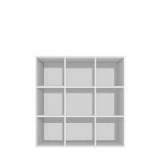 Reol med 9 rum - rumdeler