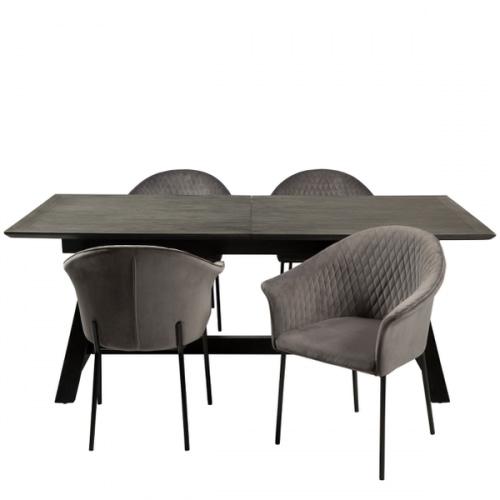 Dumas udtræksmødebord med 4 Kite stole