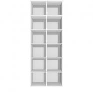 Reol - 12 rum, tilsæt låger og lås