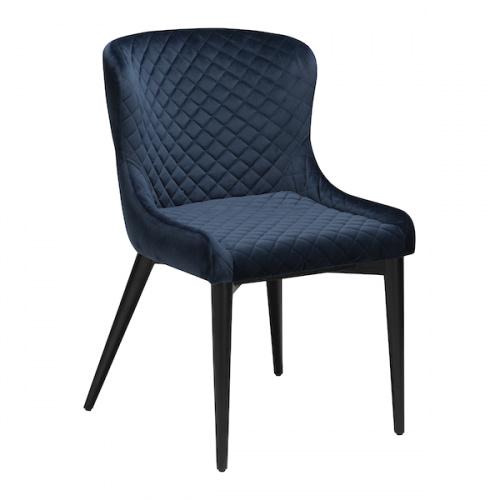 Midnight blå velour m. sortbejdset egeben (100250527)