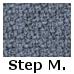 Blå Step Melange (0,-) (66018)