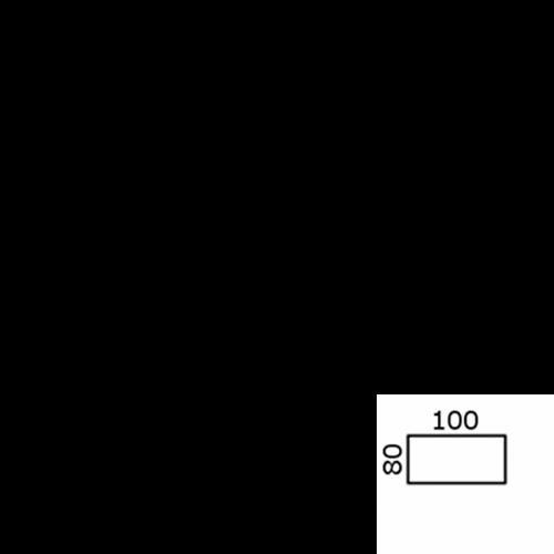 100x80 cm rektangulær (12484)